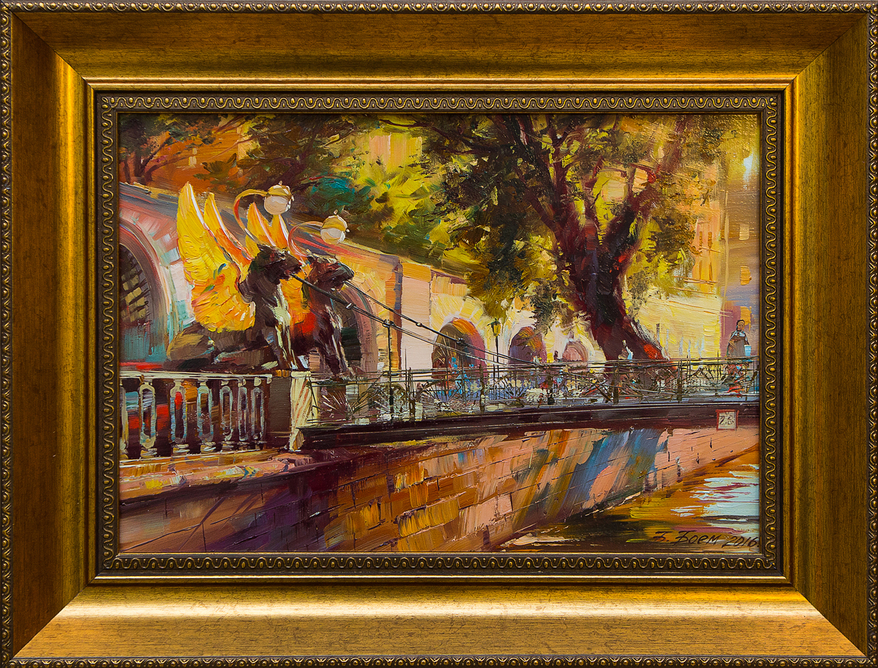 Картина маслом Банковский мост Боем картина маслом владимирский собор боем