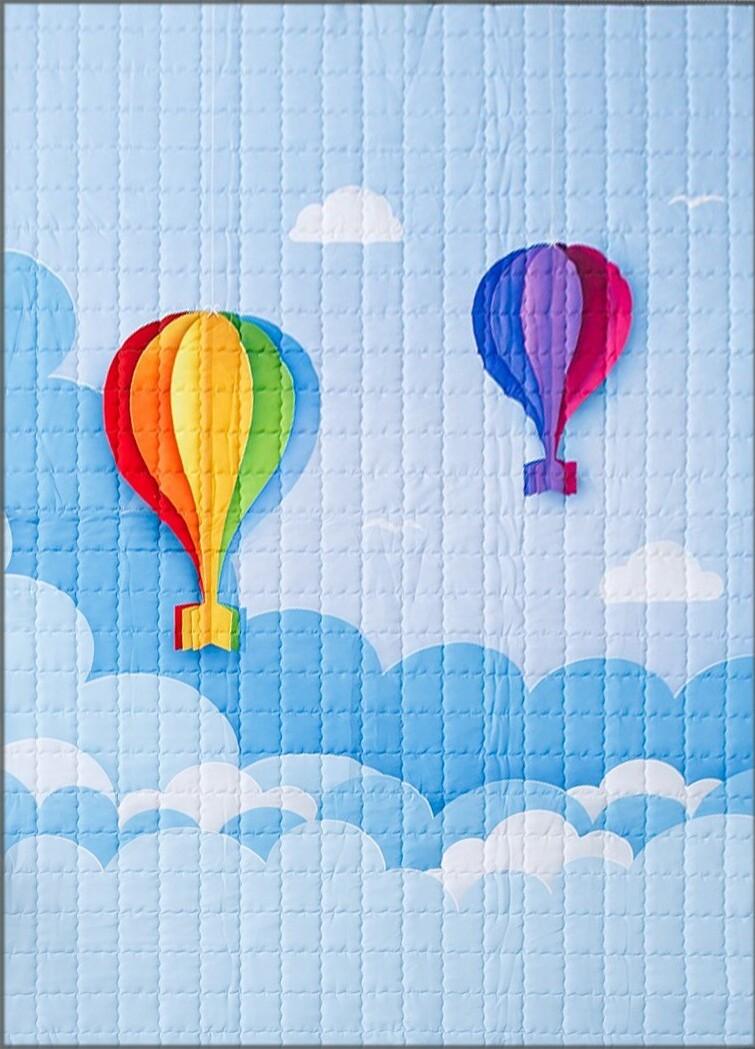 """Детский коврик LeoGo """"Полет на шарах"""", 195 х 145 см"""