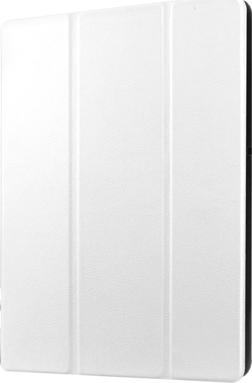Чехол-обложка MyPads для Huawei Mediapad X1/ X2 7.0 тонкий умный кожаный на пластиковой основе с трансформацией в подставку белый