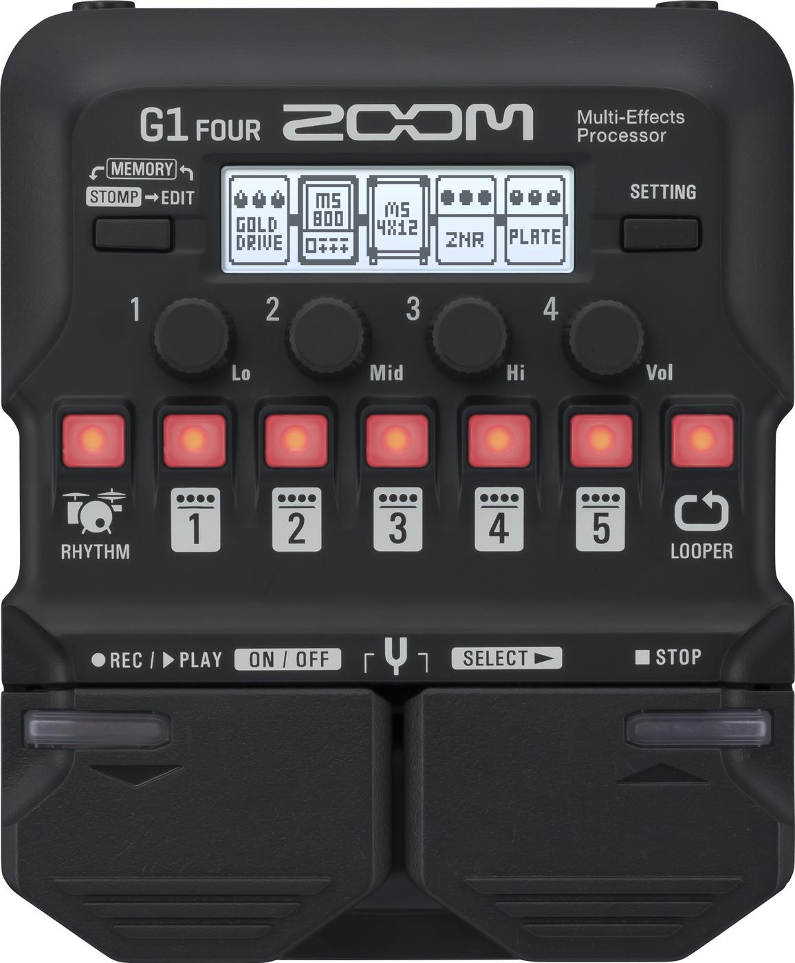 Мульти педаль эффектов для электрогитары Zoom G1 FOUR