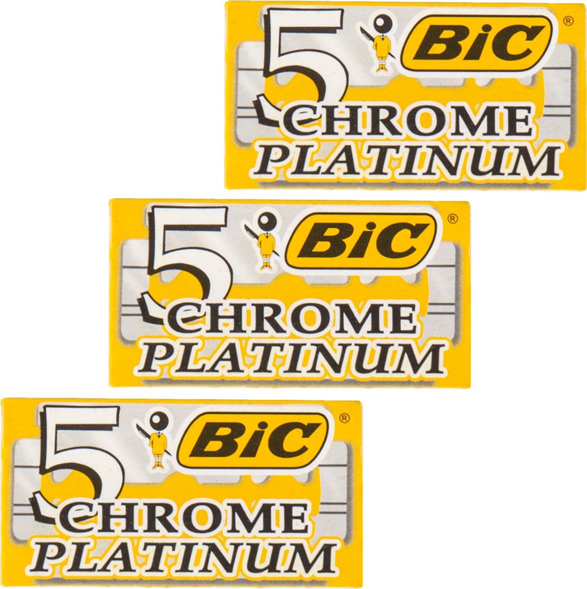 3 упаковки лезвий BIC CHROME PLATINUM для бритвенных станков