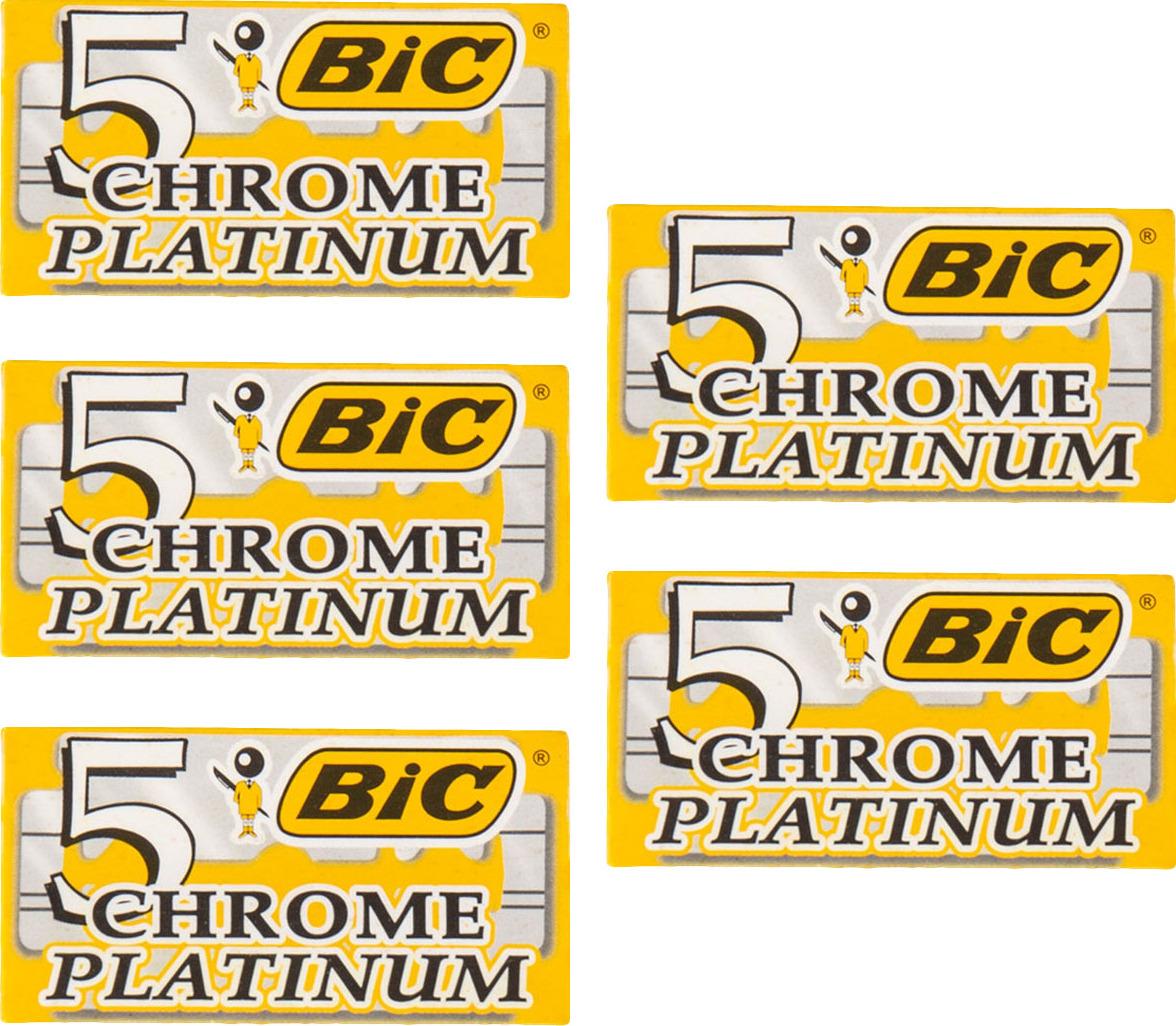 5 упаковок лезвий BIC CHROME PLATINUM для бритвенных станков