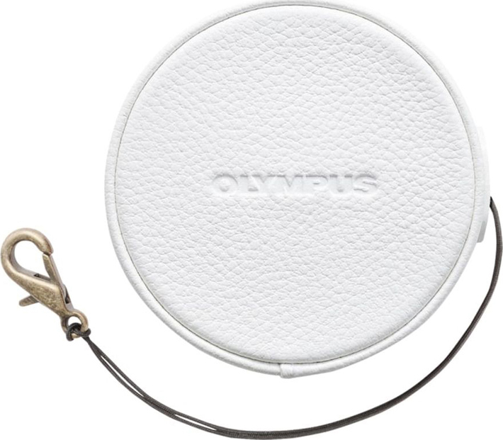 LC-60.5GL WHT Genuine Leather Lens Cover (60.5 mm), White