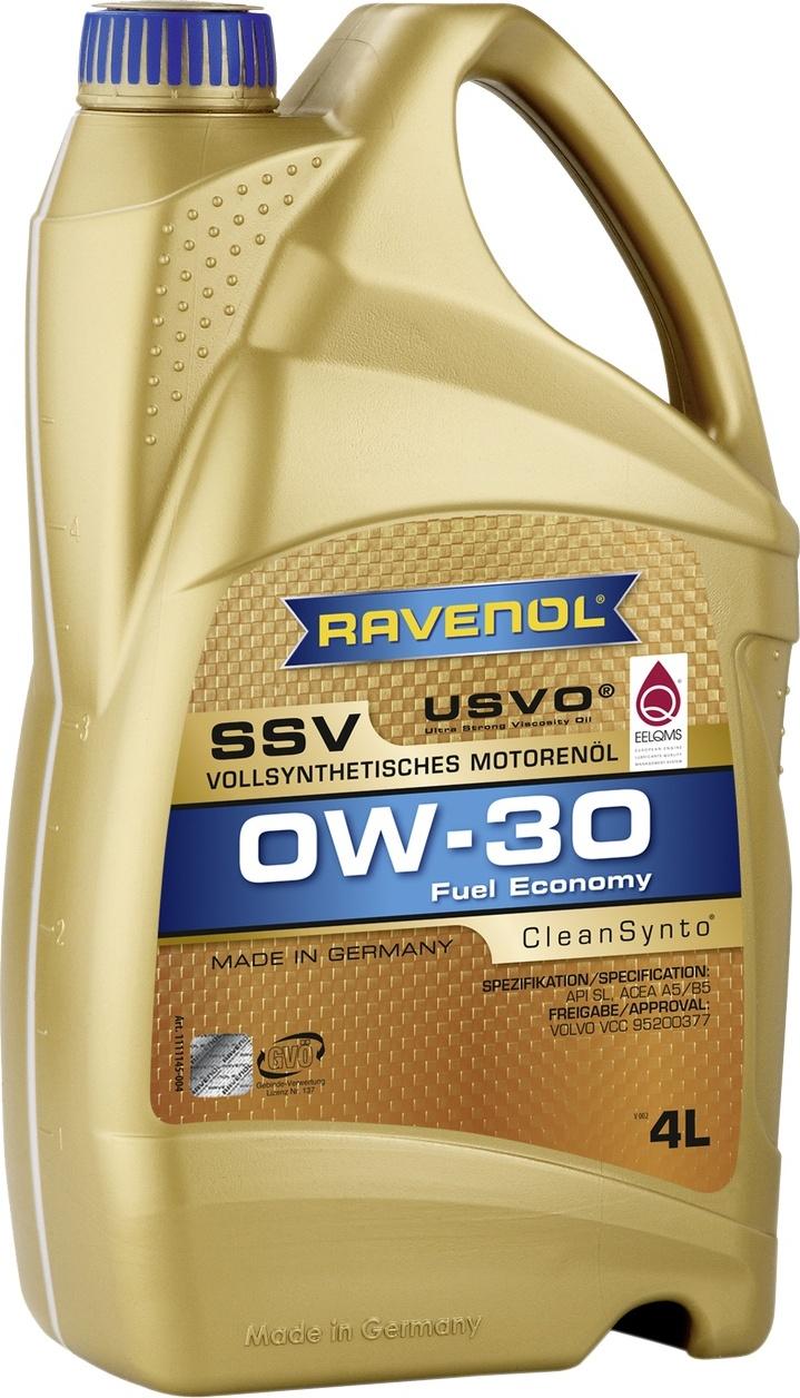 Моторное масло RAVENOL SSV Fuel Economy SAE 0W-30 (4л)