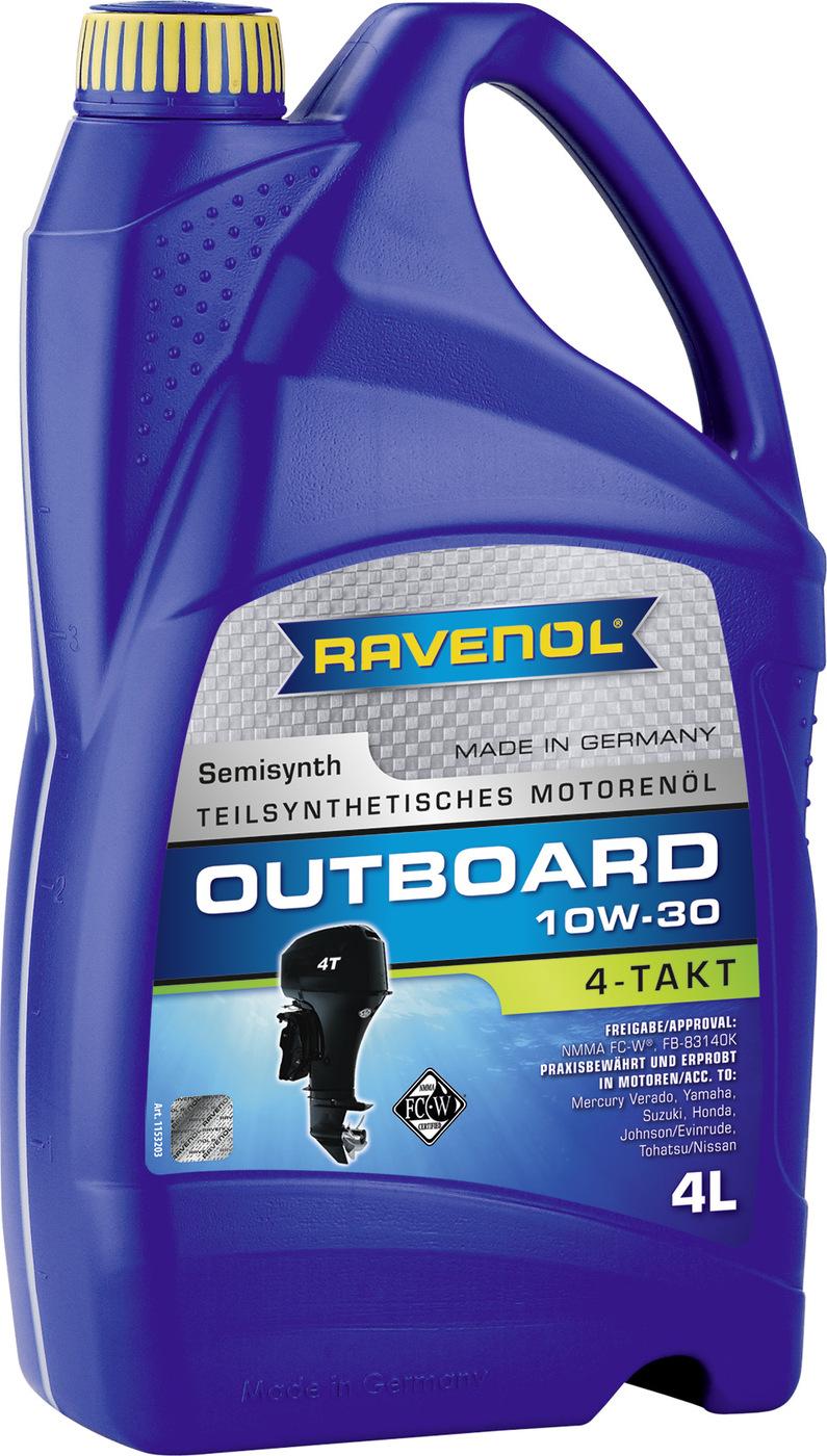 Моторное масло для 4-T лодочных моторов RAVENOL Outboardoel 4T SAE 10W-30 (4л)