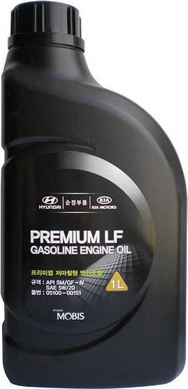 Моторное масло MOBIS Premium LF Gasoline 5W-20 1 л