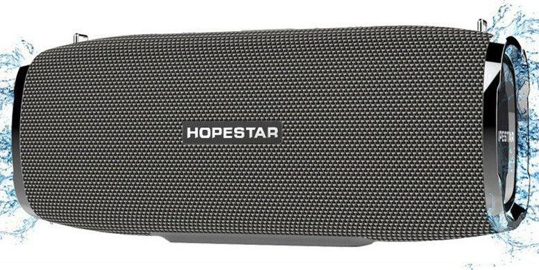 Портативная bluetooth колонка Hopestar A6 серая 35W