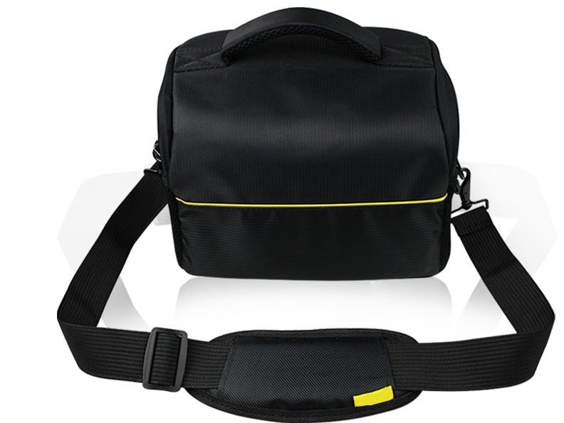 Чехол-сумка MyPads TC-1220 для фотоаппарата Nikon D5500 COOLPIX B500 B700 из качественной износостойкой влагозащитной ткани черный