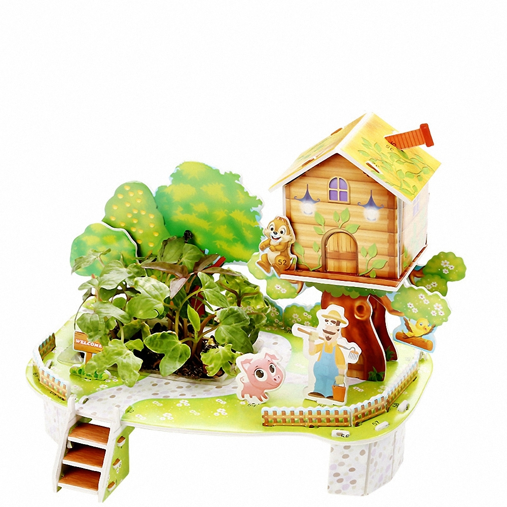 Живой 3D пазл Mini Zilipoo Мой урожайный сад (1997-M-006)