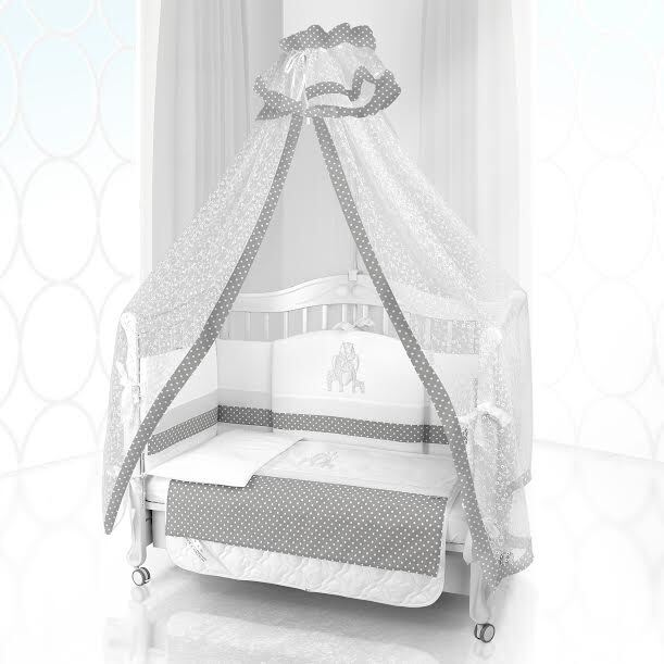 Комплект постельного белья Beatrice Bambini Unico Punto Di Giraffa (120х60) - bianco& grigio