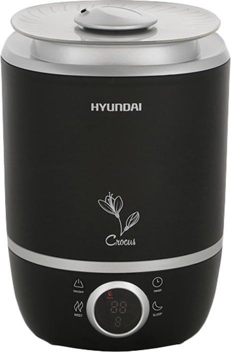 Увлажнитель воздуха Hyundai H-HU12E-4.0-UI188, черный, серебристый