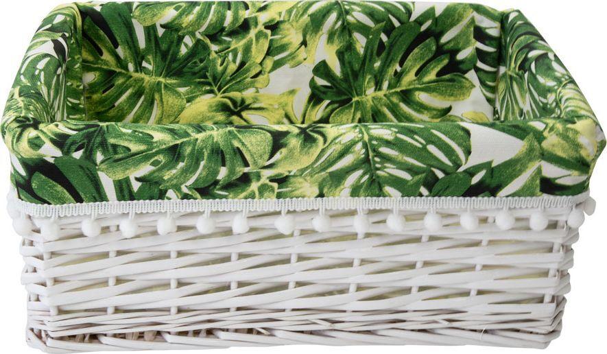 Корзина для мелочей Natural House Tropics, EW-82 M, белый, 40 х 31 х 17 см