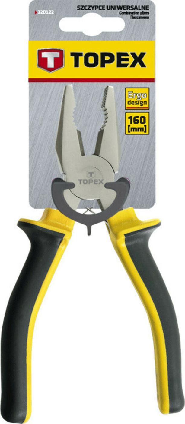 Пассатижи комбинированные Topex, 160 мм
