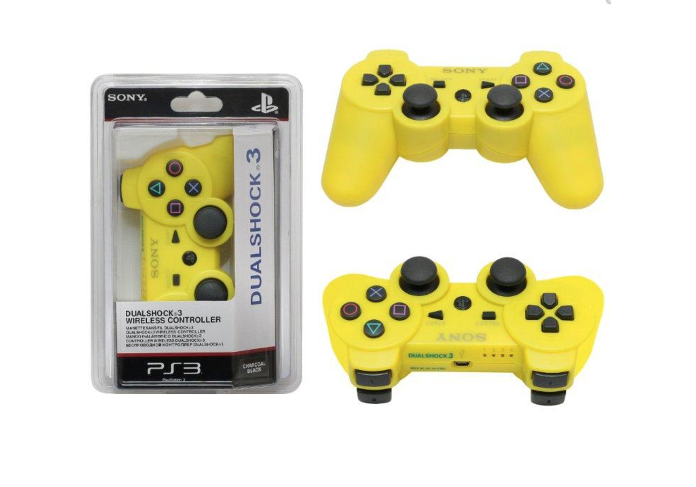 Джойстик Sony DualShock 3 для PS3 желтый