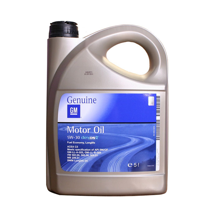 Масло моторное синтетическое GM Dexos2 5W-30 5 л (RU)