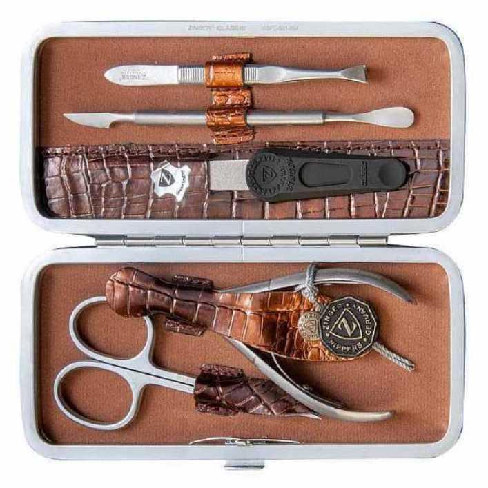 Zinger Маникюрный набор 5 предметов (MSFE-501 SM), коричневый