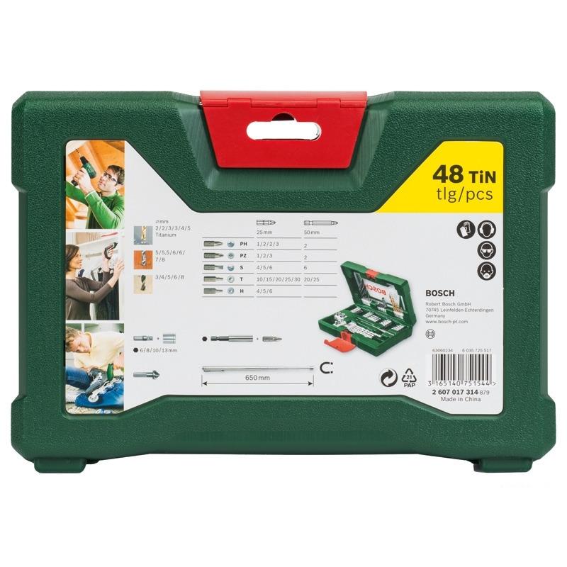 Набор принадлежностей V-line (48 шт.) Bosch 2607017314