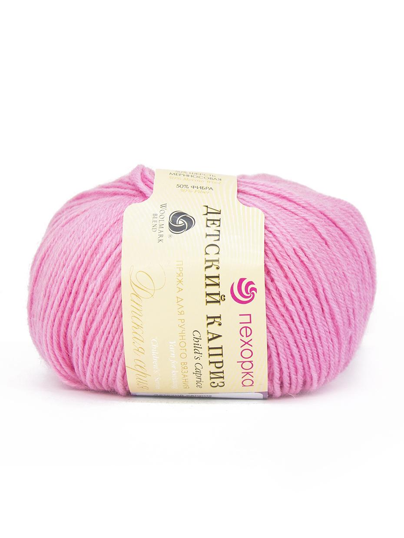 Пряжа для вязания Пехорка Детский каприз (комплект 10 мотков), цвет: розовый (11), состав: 50% - мериносовая шерсть, 50% - фибра, вес: 50 гр, длина: 225 м