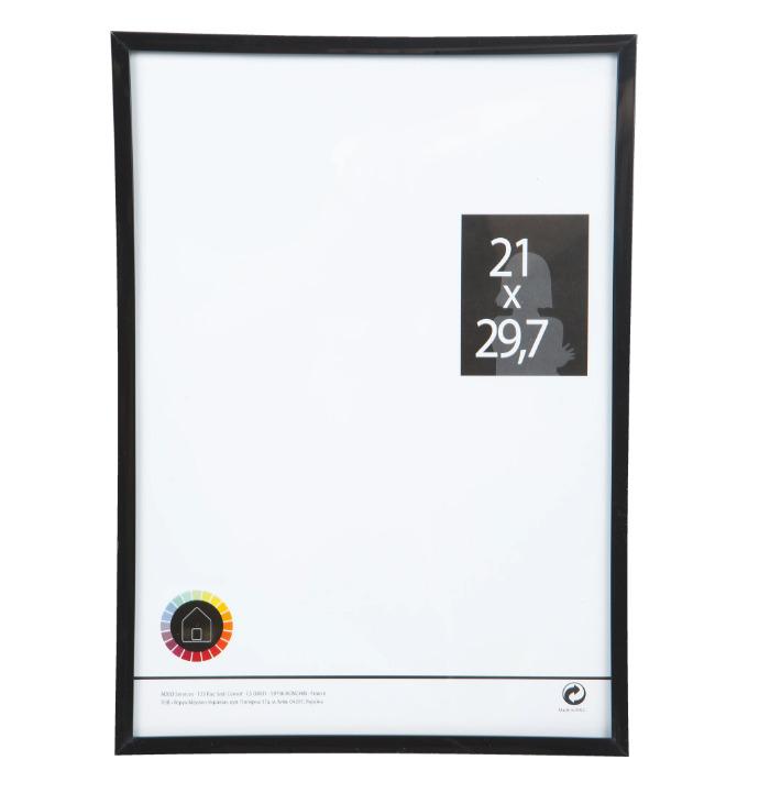 Рамка 21x29.7 см цвет чёрный-20994