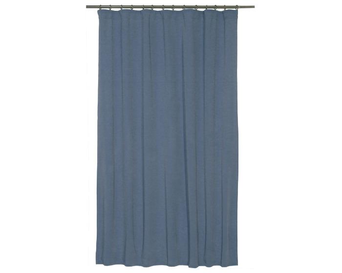 Штора на ленте, 140х180 см, цвет синий-20801