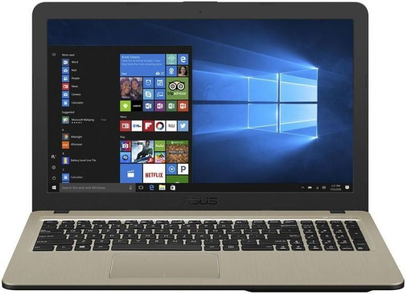 """15.6"""" ноутбук asus vivobook x540ma-dm009, intel pentium silver n5000 (1.1 ггц), ram4 гб, ssd 128 гб intel uhd graphics 605, linux, (90nb0ir1-m16740), черный"""