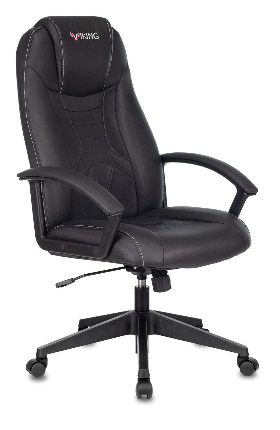 Игровое компьютерное кресло Бюрократ VIKING-8/BLACK, Экокожа, черный