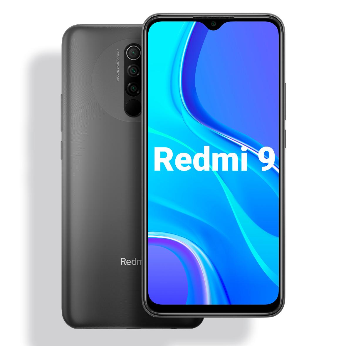 смартфон xiaomi redmi 9  4/64gb, carbon grey. уцененный товар