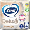 Туалетная бумага Zewa Deluxe АромаСпа, 3 слоя, 4 рулона - изображение