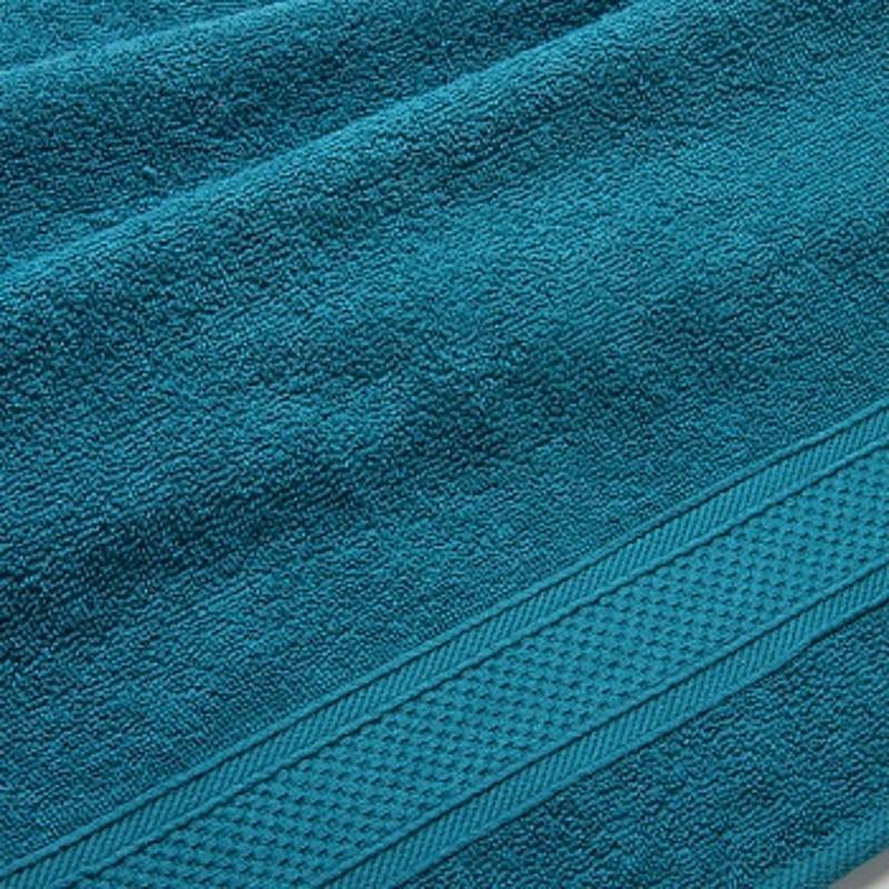 Полотенце банное махровое с бордюром 1080 Махровая ткань, 100x180 см, темно-зеленый  #1