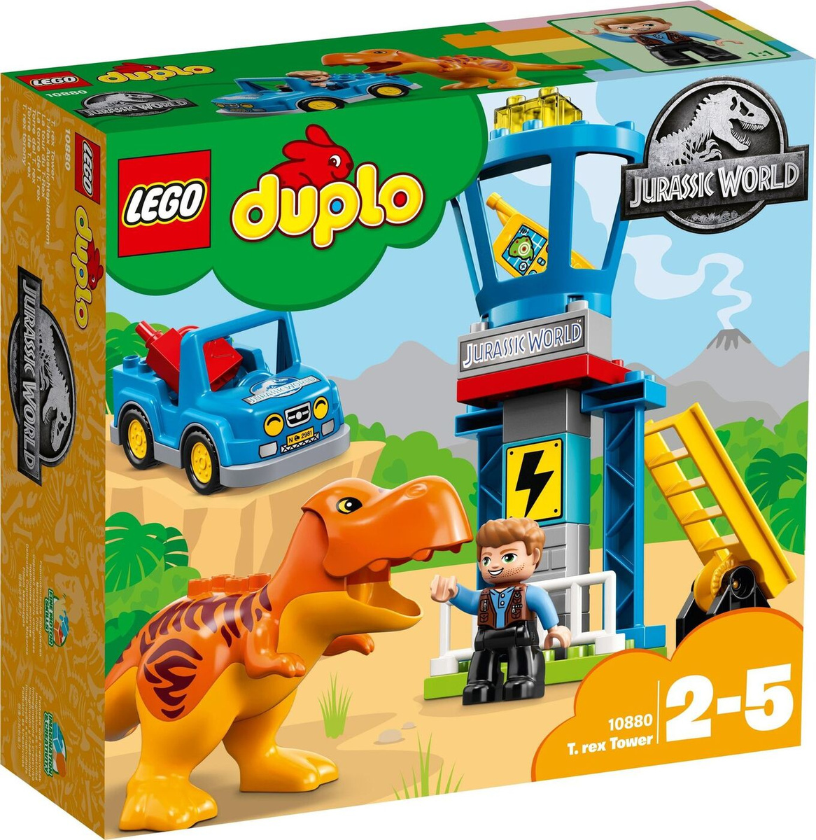 Конструктор LEGO DUPLO 10880 Jurassic World Башня Ти-Рекса #1