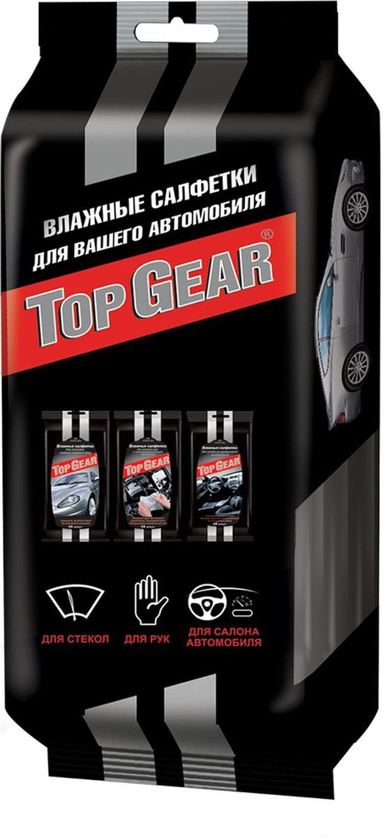Влажные салфетки Top Gear   №30, для автомобиля , 533  г #1