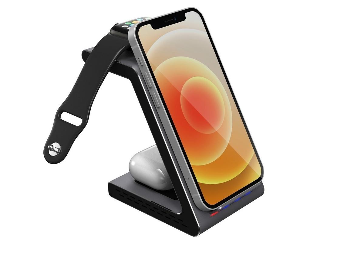 Беспроводная зарядная станция Prestigio ReVolt A8 3 в 1 для Apple Iphone  #1