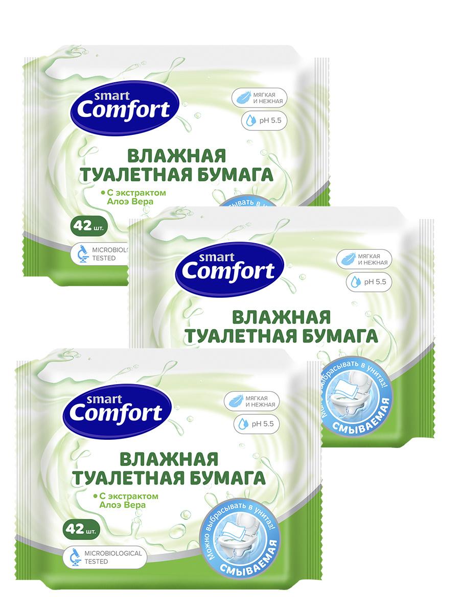 Влажная туалетная бумага Comfort smart №42 с алоэ вера  #1