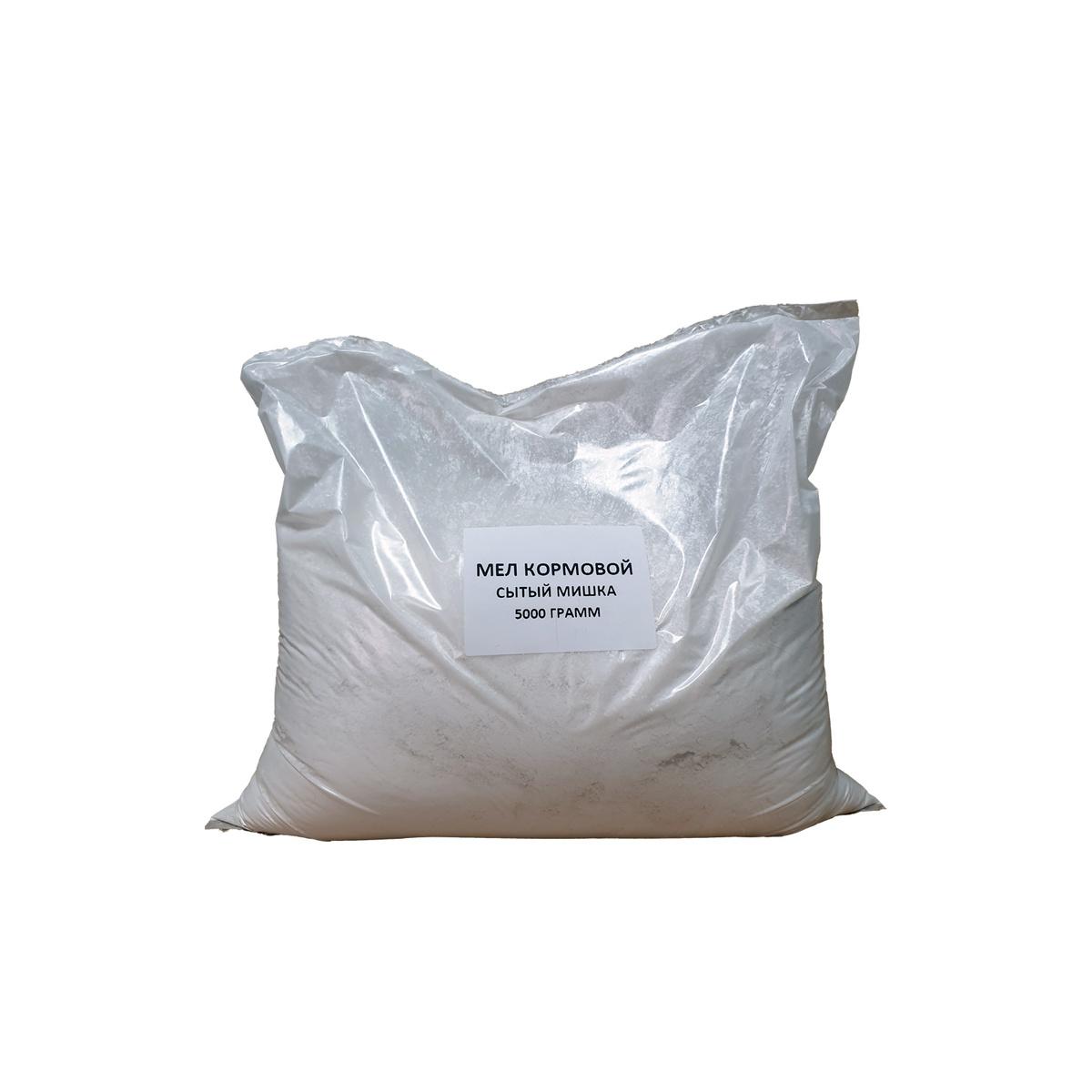 Мел кормовой 5 кг минеральная добавка для животных и птиц Сытый Мишка  #1