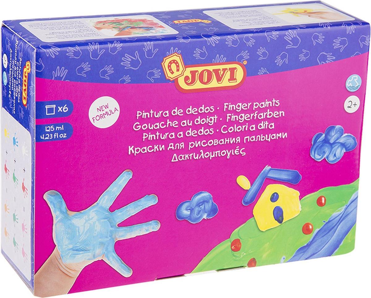 Краски пальчиковые JOVI, 6 цветов, 125 мл #1