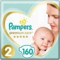 Pampers Подгузники Premium Care 4-8 кг (размер 2) 160 шт. Наши лучшие предложения