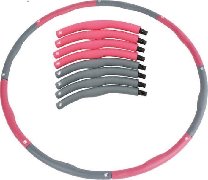 Обруч массажный Iron People IR97354-В, серый, розовый