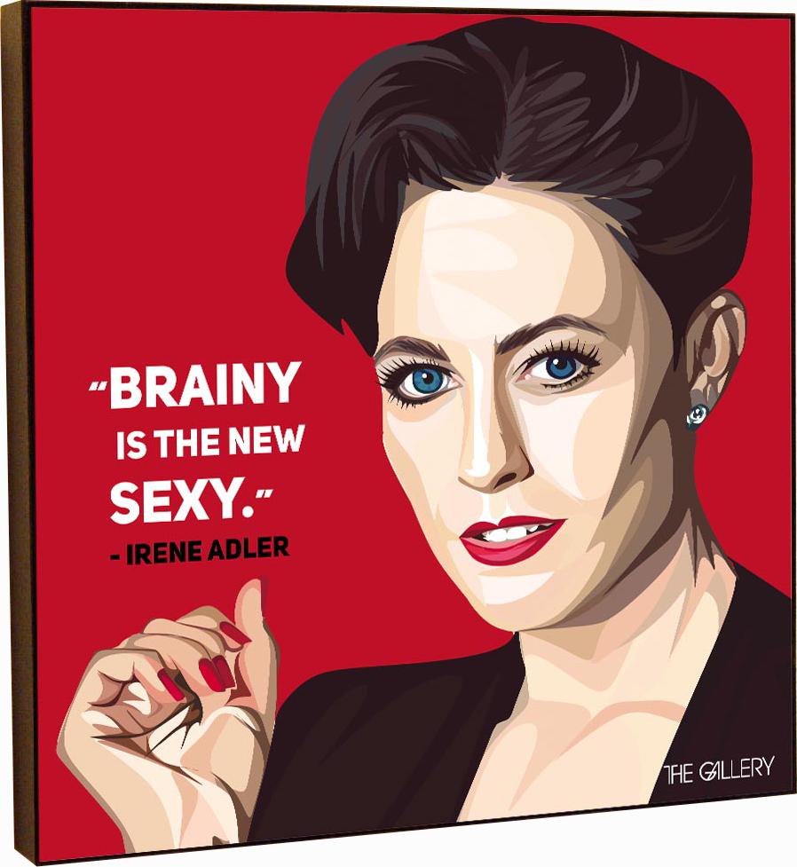 Картина постер Ирен Адлер в стиле поп-арт 25 х см