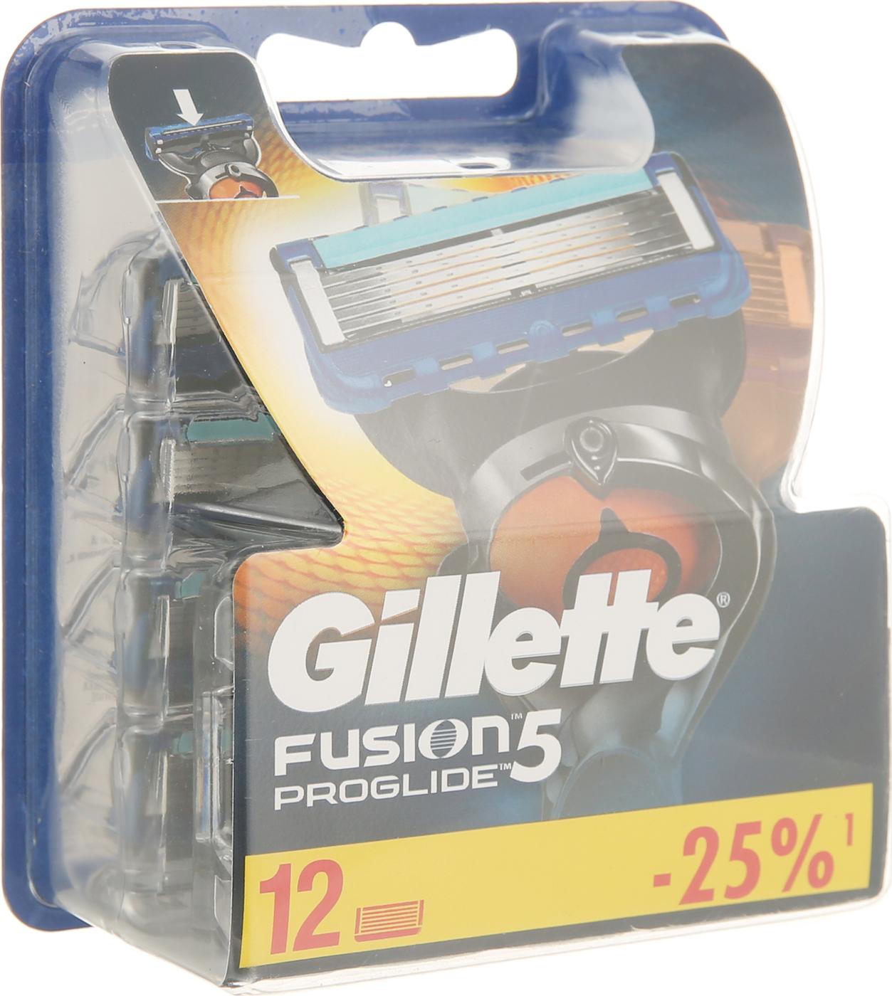 Сменные Кассеты Gillette Fusion5 ProGlide Для Мужской Бритвы, 12 шт