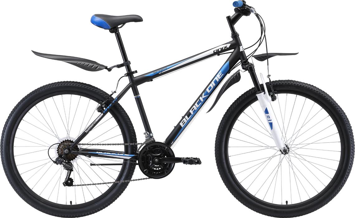 Велосипед BLACK ONE Onix 27.5 2019 20 чёрный/синий/серебристый