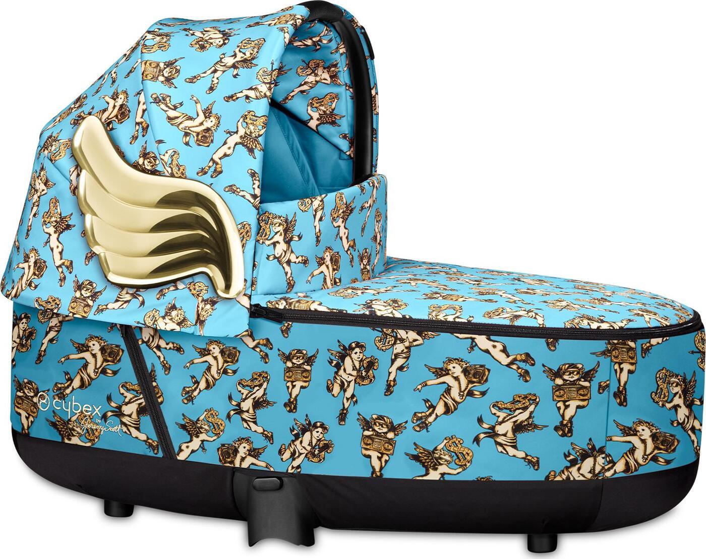 Cybex спальный блок для коляски Priam III (Cherubs Blue by Jeremy Scott) cybex конверт для коляски priam cherubs pink by jeremy scott
