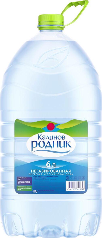Калинов Родник питьевая артезианская негазированная вода, 6 л вода калинов родничок для детей 6 шт по 2 0 л