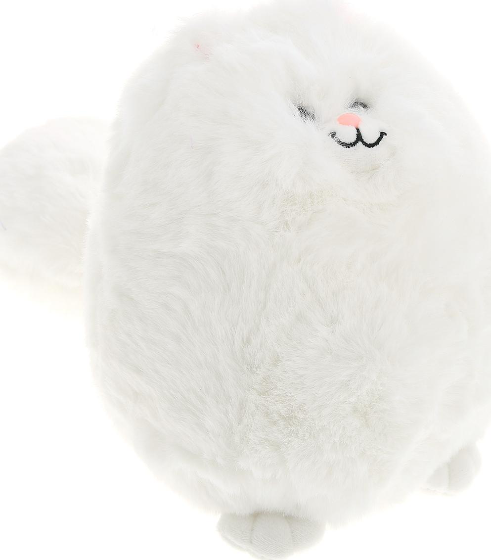 Мягкая игрушка Abtoys Кошка пушистая, M2047, белый, 20 см