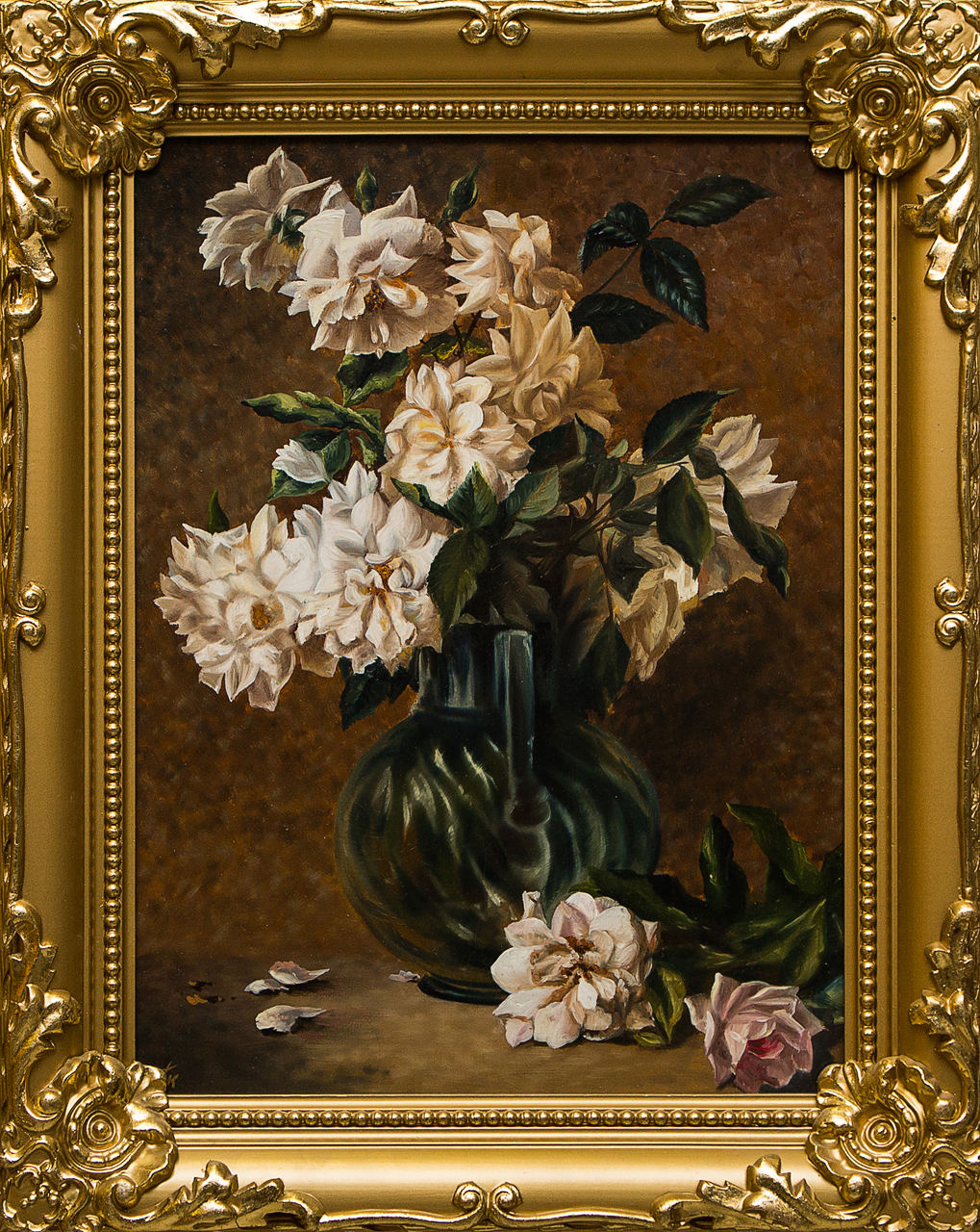 Картина маслом Белые розы Якущенко картина маслом вид с университетской набережной белые ночи воробьев