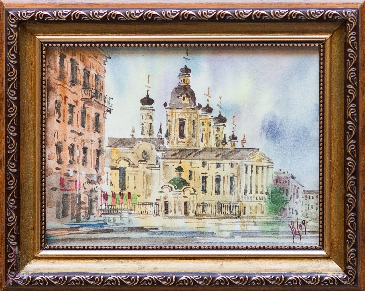 Картина маслом Владимирский собор Шеренкова картина маслом владимирский собор боем