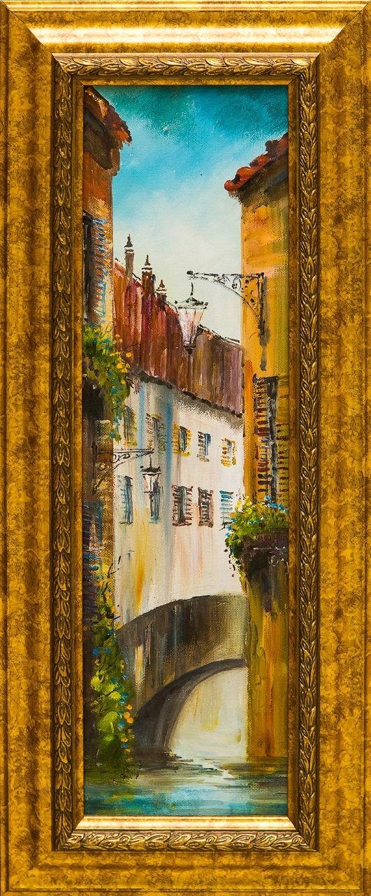 Картина маслом Европа Шеренкова картина маслом шумный город шеренкова