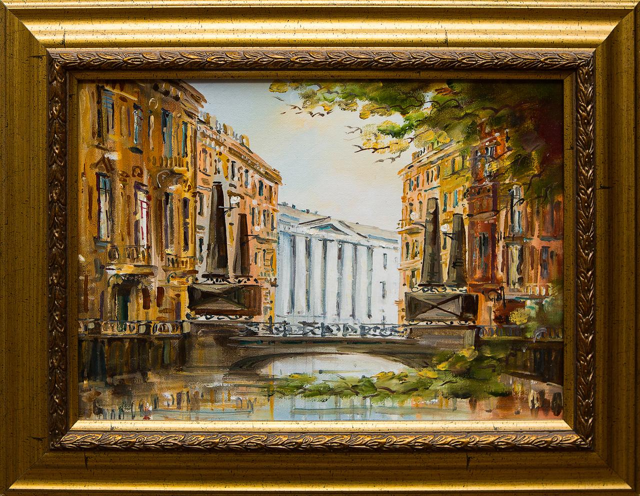 Картина маслом Канал Грибоедова Шеренкова картина маслом город шеренкова