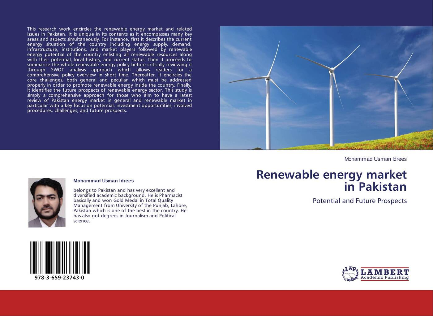 Mohammad Usman Idrees Renewable energy market in Pakistan edgar lara curzio materials challenges in alternative and renewable energy