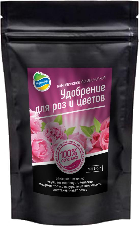 Удобрение OrganikMix для роз и цветов 200г удобрение florizel гелеобразное органическое биогумус для роз 350мл