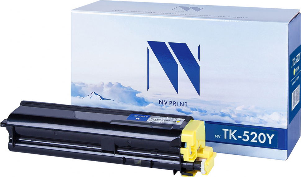 Тонер-картридж NV Print TK-520, желтый, для лазерного принтера
